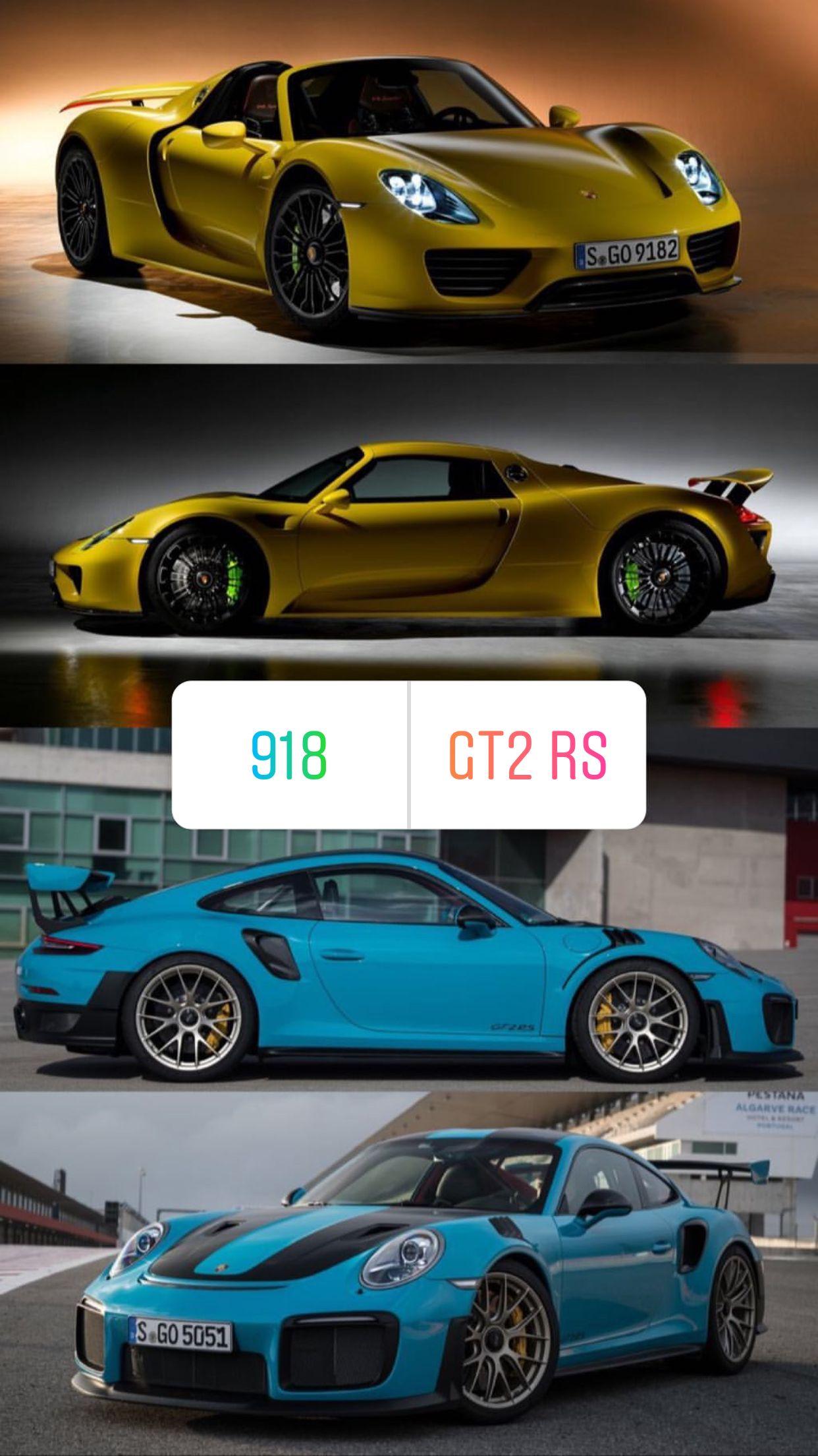 Porsche 918 Or Gt2 Rs Autos Aviones