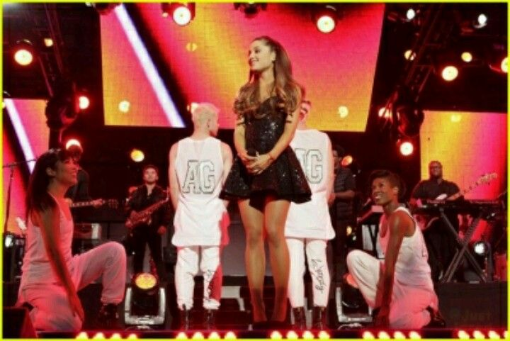Ariana Grande performing on Jimmy Kimmel live