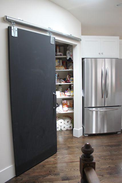 Love The Chalkboard Pantry Barn Door Kitchen Pantry Doors Door