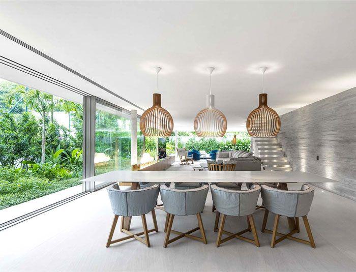 Modernes tropisches minimalistisches Haus durch Studio MK27 ...