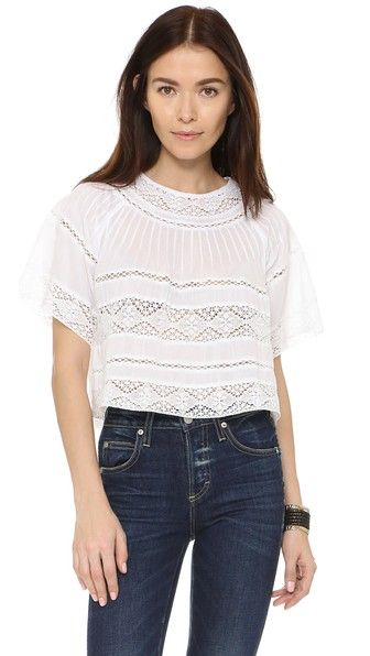 LOVESHACKFANCY Bella Beach Blouse