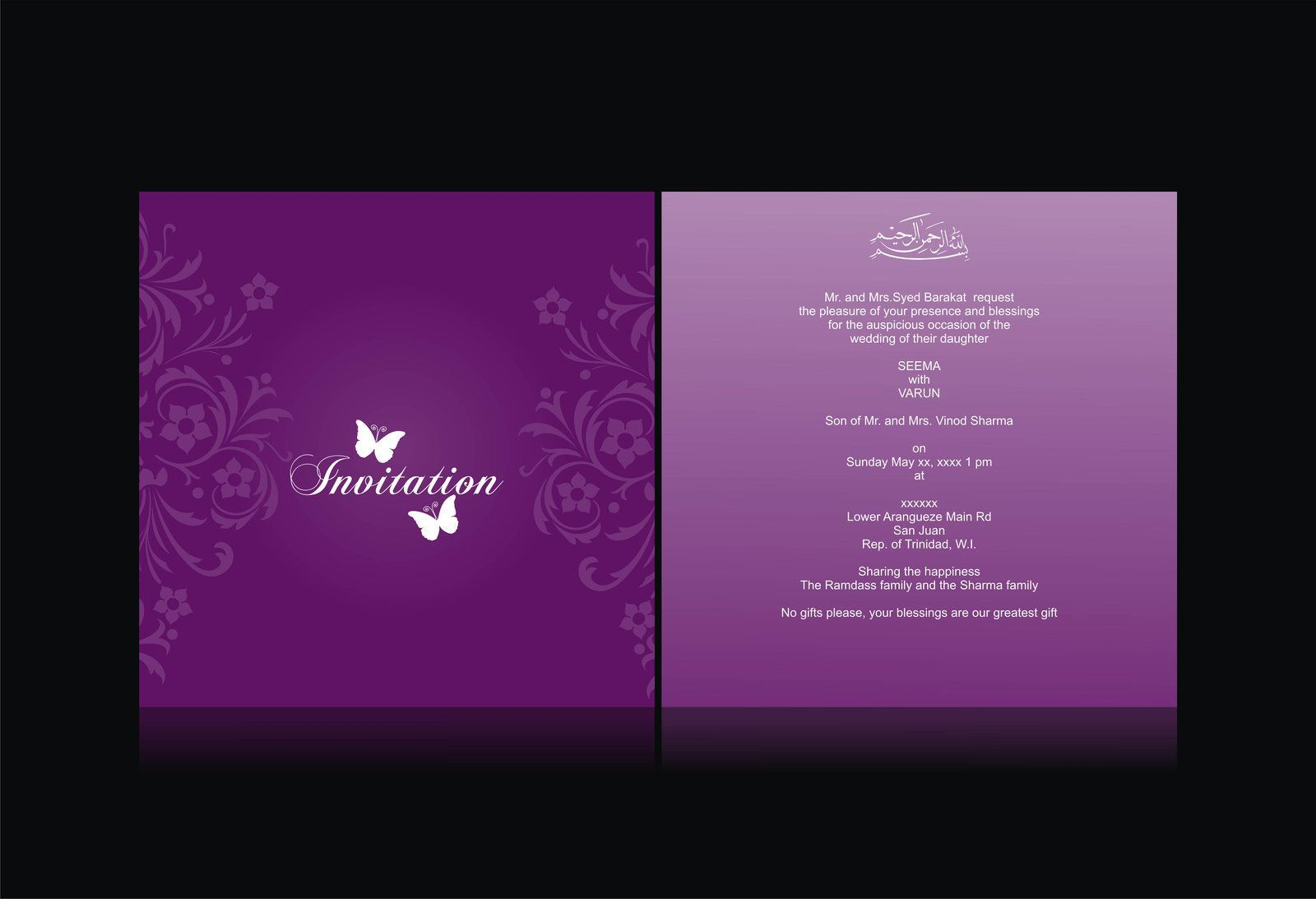 wedding invitation card by syedmaaz on deviantart