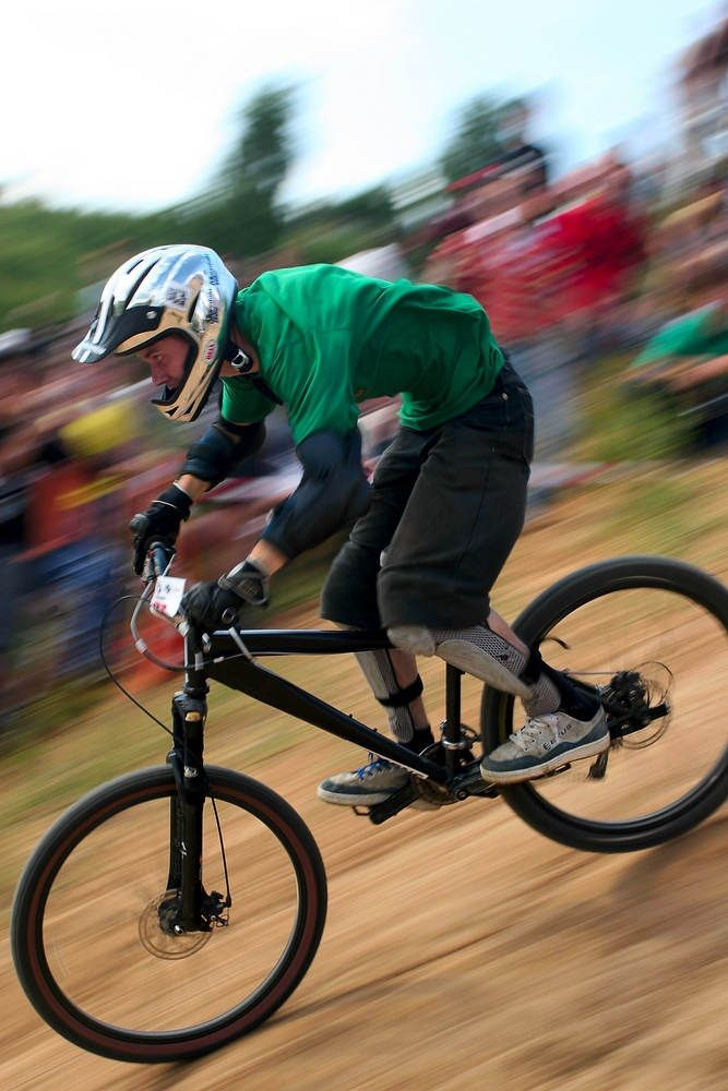 Downhill Mountain Bike Racing Can Be Blisteringly Fast And