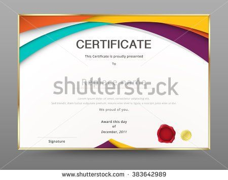 modern certificate appreciation template. diploma design. vector, Modern powerpoint