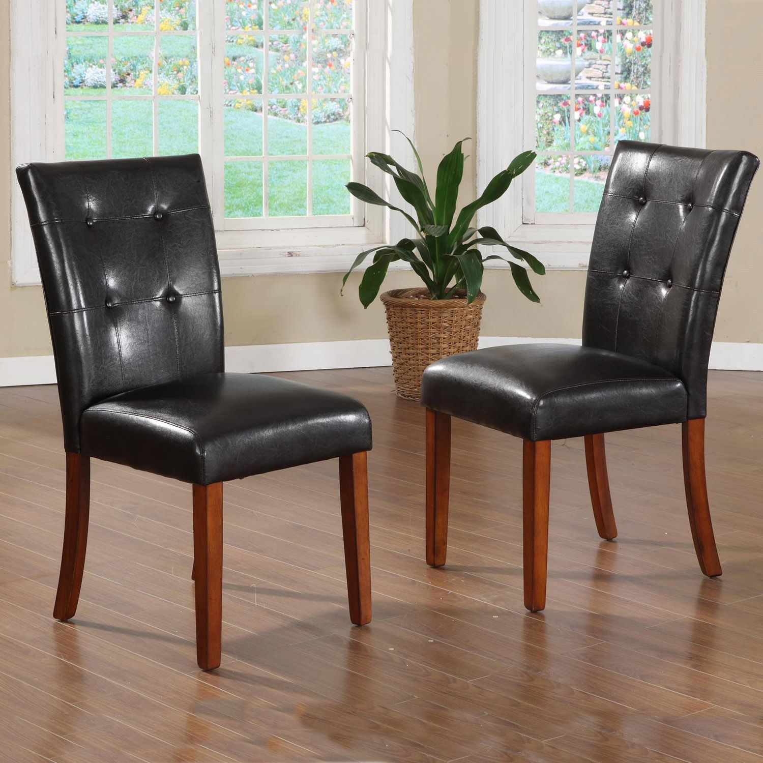 TRIBECCA HOME Hutton Faux Leather Upholstered Dining Chairs (Set of 2) by  iNSPIRE Q