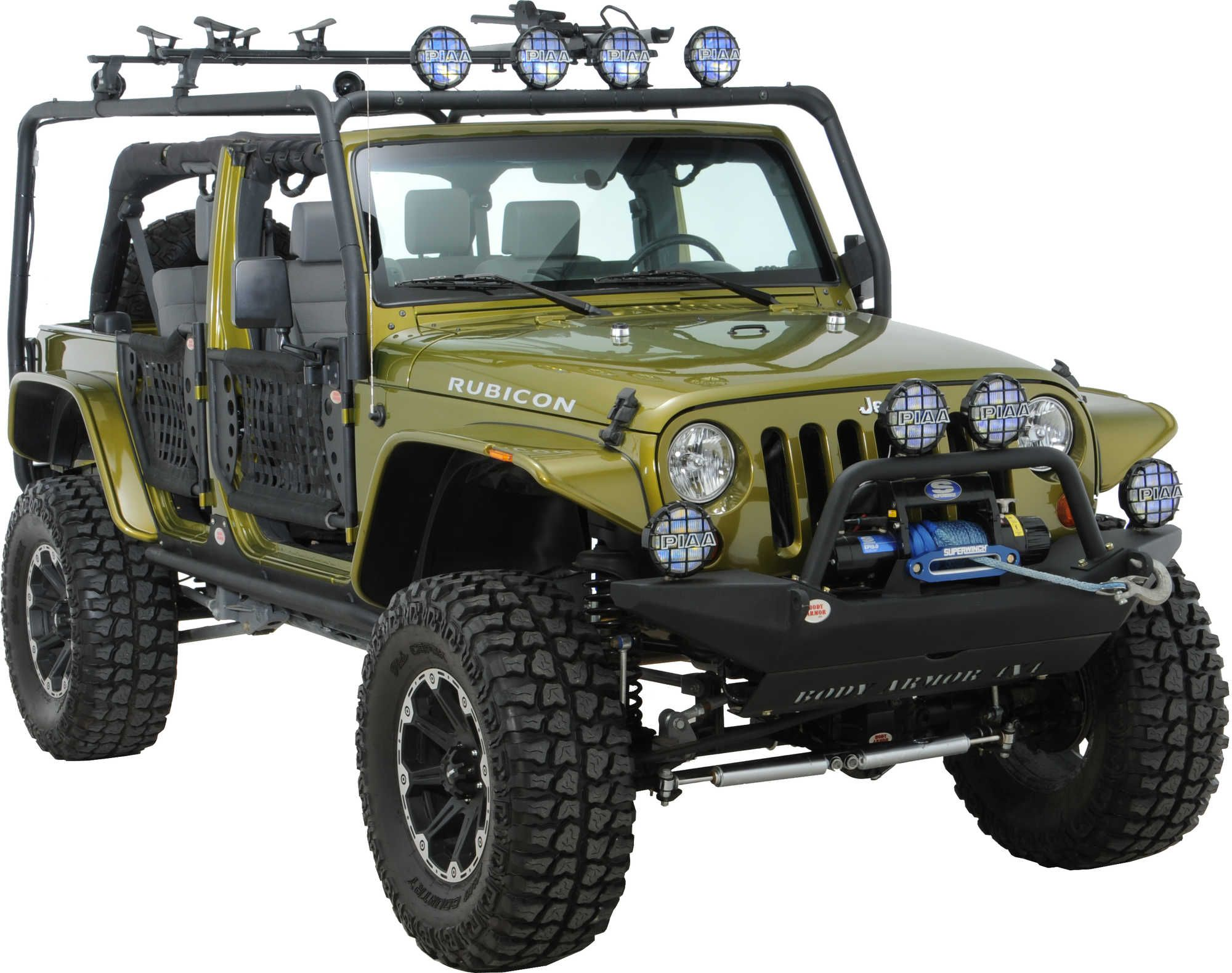 Body Armor 4x4 Roof Rack Base Kit For 07 16 Jeep® Wrangler JK 2