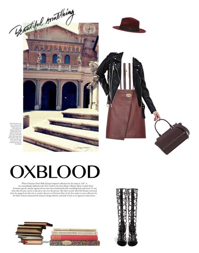 """""""Oxblood"""" by mihreta-m ❤ liked on Polyvore featuring Topshop, Reiss, Sergio Rossi, PATH and Jada"""