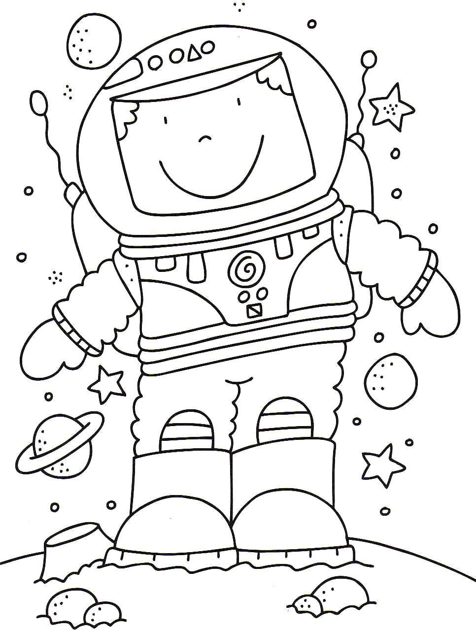 space coloring pages free - photo#41