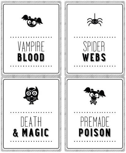Halloween soda wine bottle labels – Free Wine Bottle Label Template