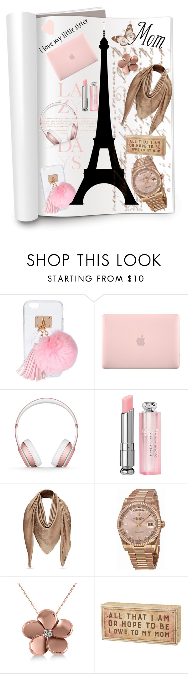 """""""mom n sis gifts"""" by b-a-hanen on Polyvore featuring Lazy Days, Ashlyn'd, Incase, Beats by Dr. Dre, Christian Dior, Rolex, Allurez, Primitives By Kathy and giftguide"""