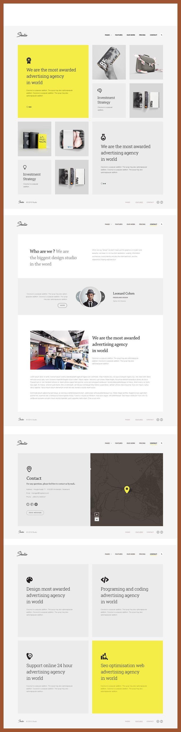 Responsive Web Design Framework Studio Template Responsive Web Design Inspiration Res Web Design Inspiration Web Layout Design Web Development Design