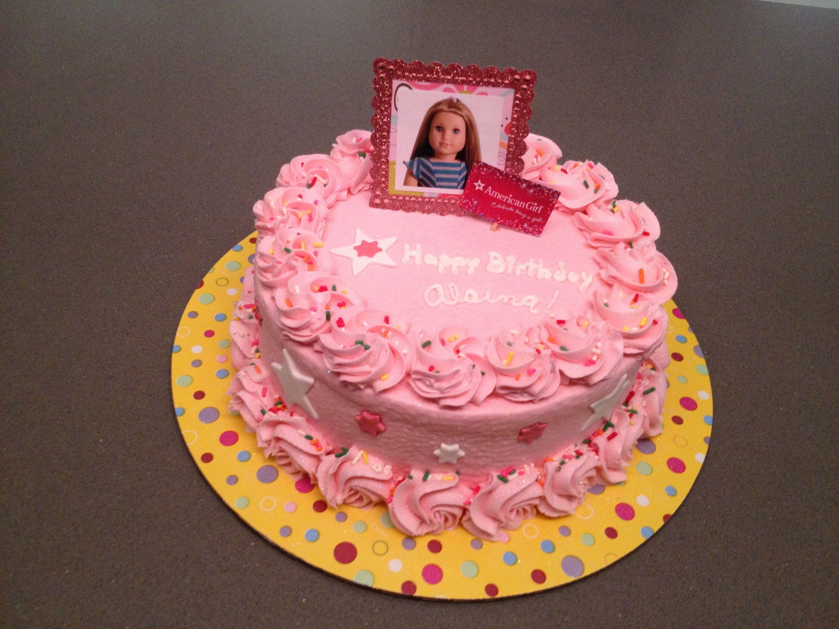 American Girl Cake Savannahs 8th birthday Pinterest American
