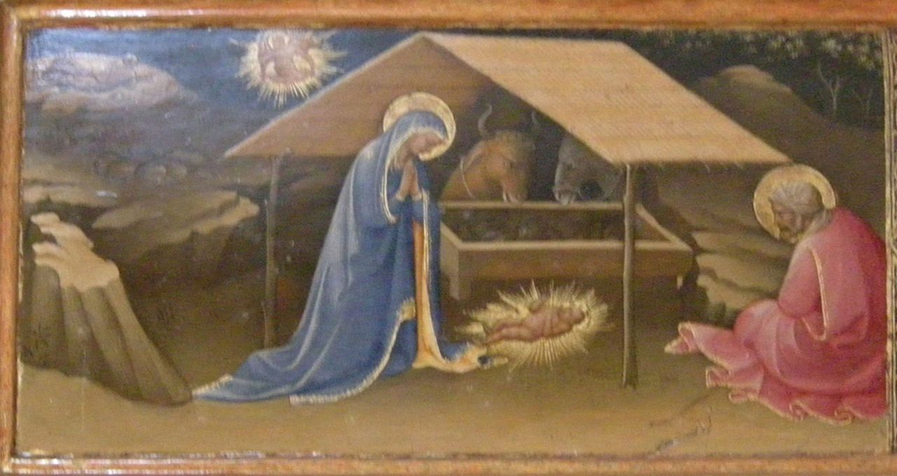 Lorenzo Monaco - Natività, predella Annunciazione Salimbeni - c.1425 - Cappella Bartolini Salimbeni - Firenze, Basilica della S. Trinità
