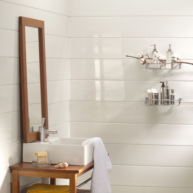 Lambris Blanc Derri Re Vasque Interiores Pinterest