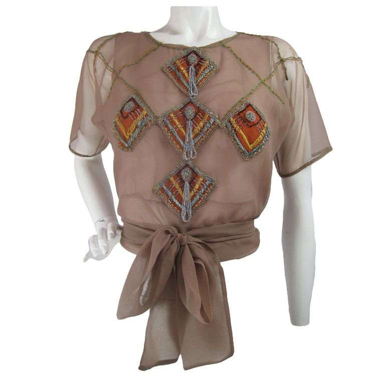 1930's Sheer Blouse