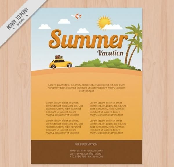 10 Beautiful Travel  Vacation Brochure Templates Templates - Vacation Brochure Template