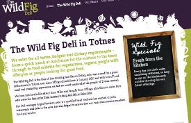 The Wild Fig Deli www.thewildfig.co.uk | New website design for deli offering a mixture of home-made, local and international foods