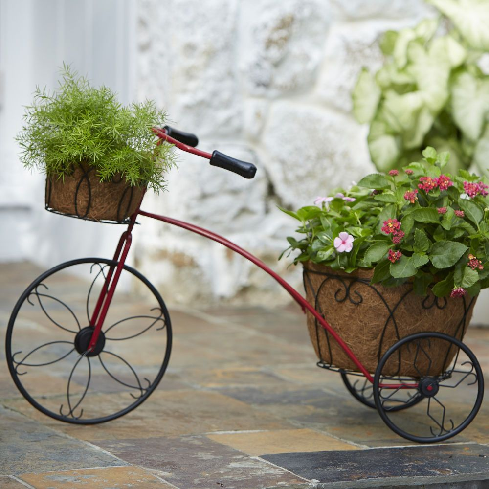 Essential Garden Tricycle Plant Holder Planters Outdoor Decor Living Doesnotly