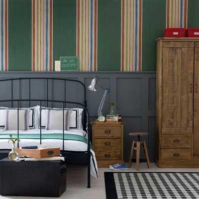 Ideas para decorar un dormitorio con papel pintado y pintura decoraci n pinterest - Habitaciones con papel pintado y pintura ...