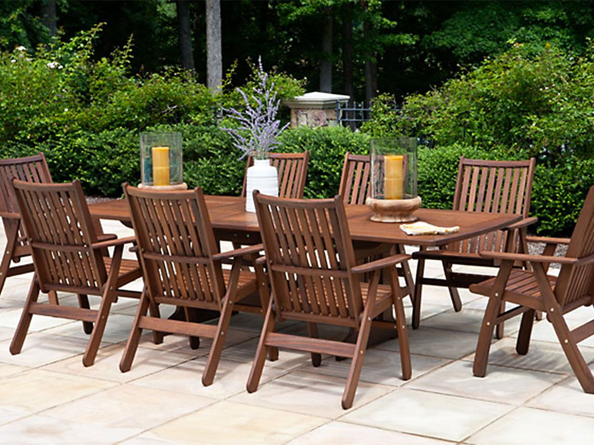 Jensen Leisure Governor Dining Outdoor Wood Furniture Outdoor
