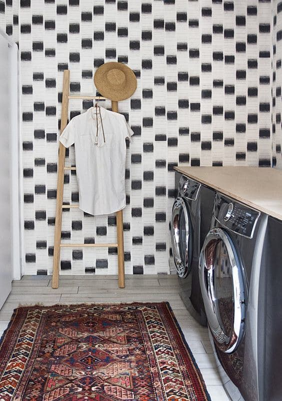 Black & White Done Right: Little Laundry Rooms with Big Style
