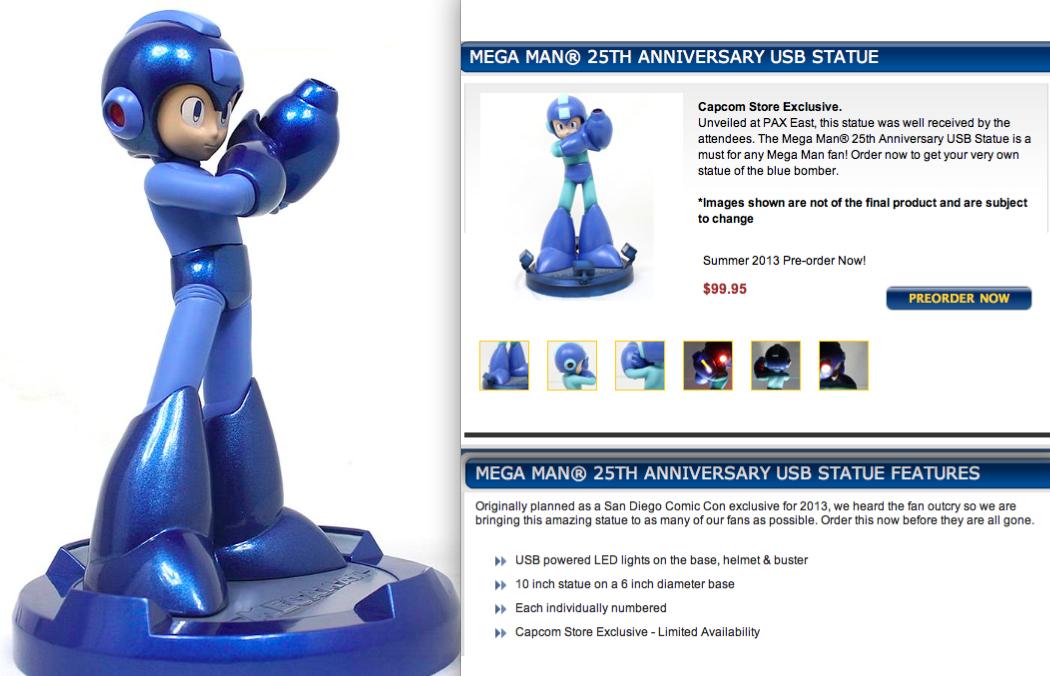 MegaMan 25th Anniversary USB statue | Games | Home appliances