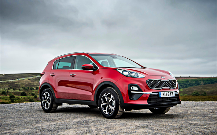 Download Wallpapers Kia Sportage Facelift 2019 Red Crossover New Red Sportage Exterior Front View Korean Cars Kia Besthqwallpapers Com In 2020 Kia Sportage Sportage Kia