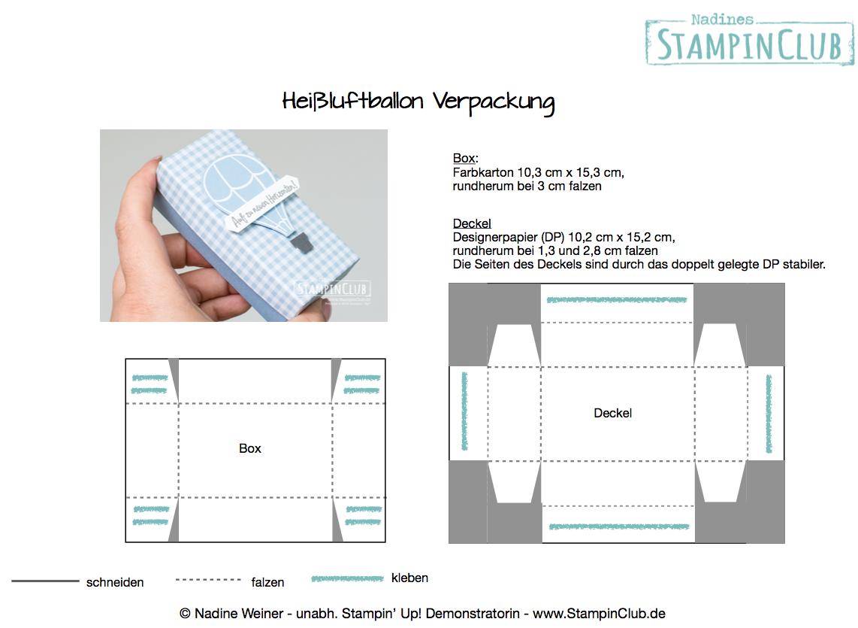 Acalendar Anleitung heißluftballon verpackung • stampinclub - stampin' up! ideen