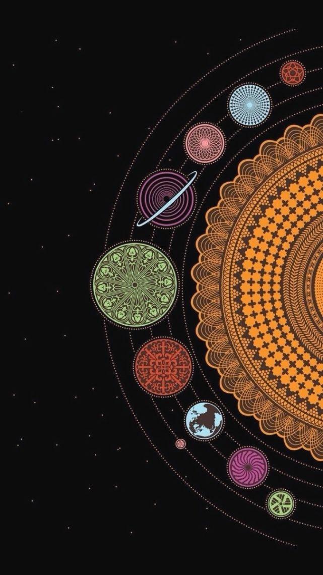 Image For Stylish Super Cute Tumblr Iphone Wallpapers Planets Gallery Papel De Parede De Celular Wallpapers Mandalas Papel De Parede Android