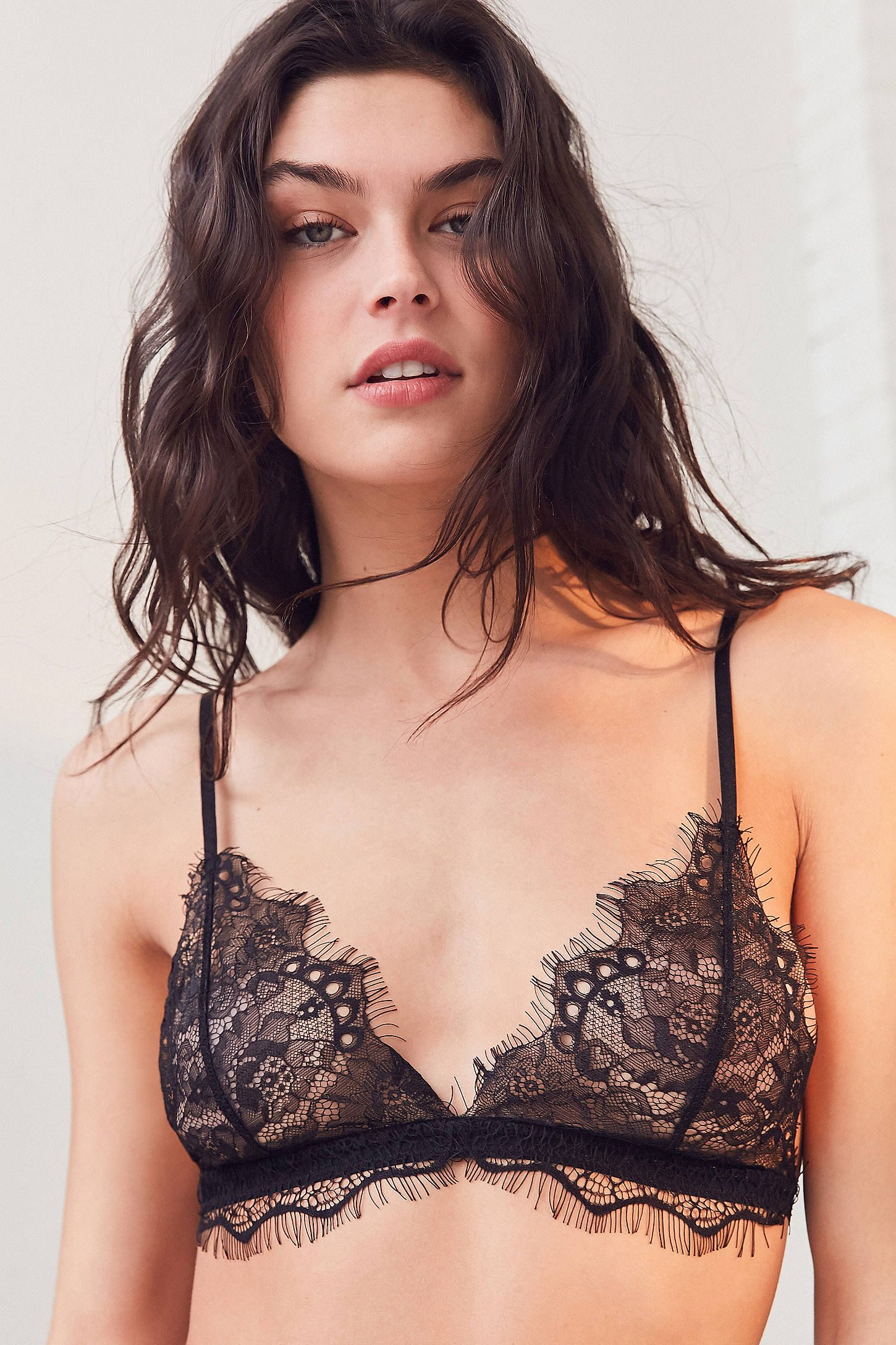 a0e5c1e7d0eaf Shop Out From Under Annette Lace Triangle Bra at Urban Outfitters ...