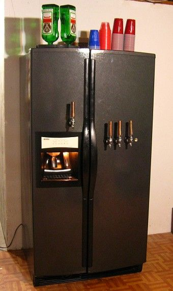 Nice Kegerator With Jagerator On Freezer Side Kitchen