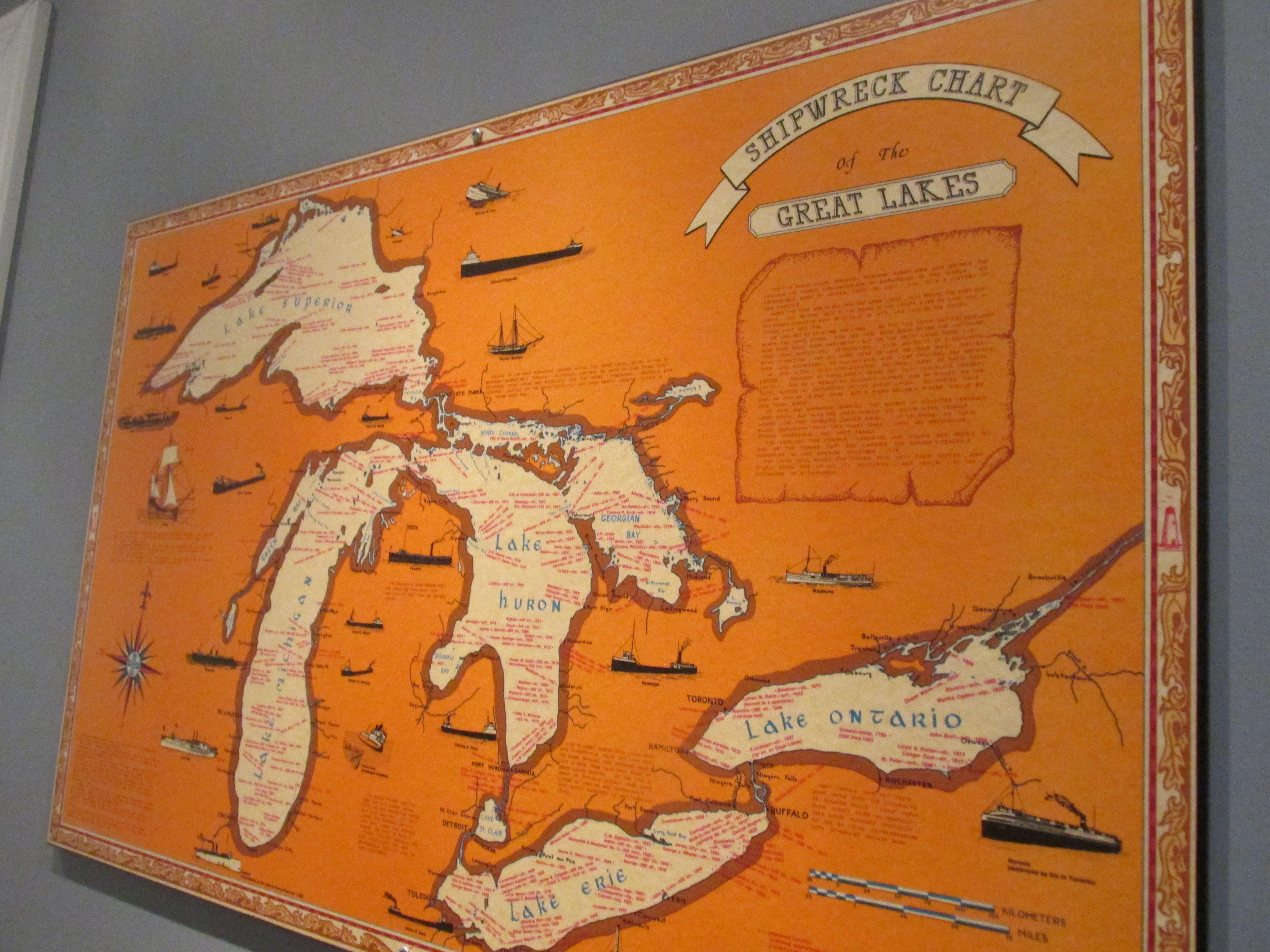 Sunken Ship Map Great Lakes My Random Life Map Ship Map