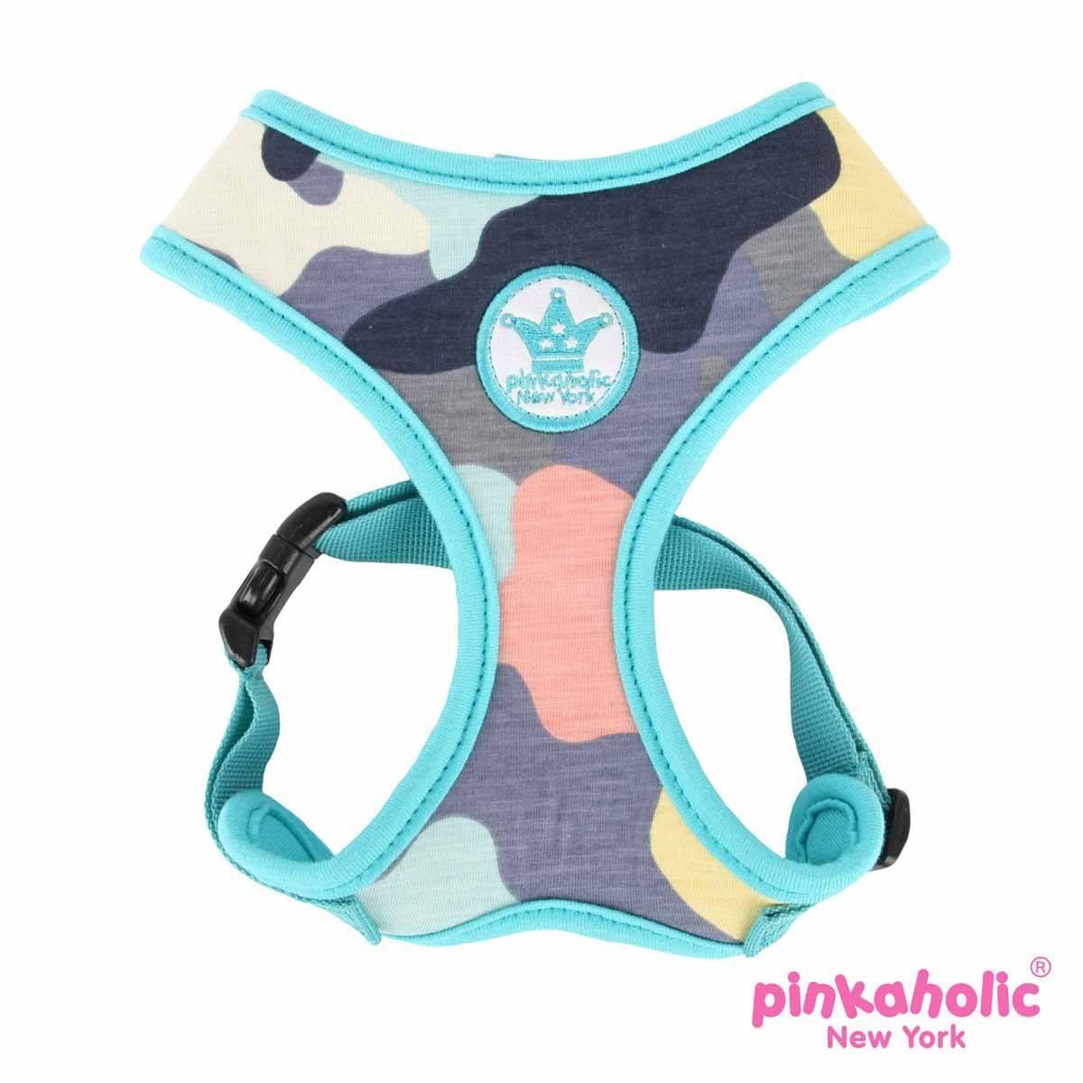 Delta Adjustable Dog Harness by Pinkaholic - Aqua