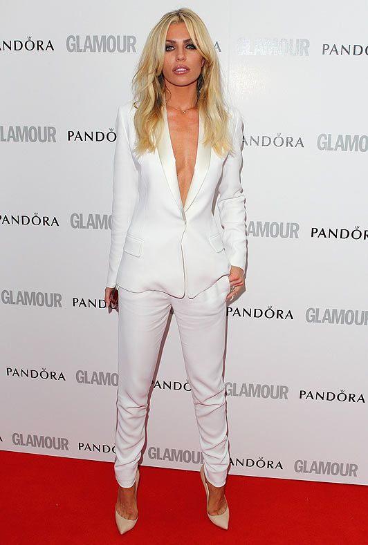 I really like the white fitted suit thing braless- not work ...