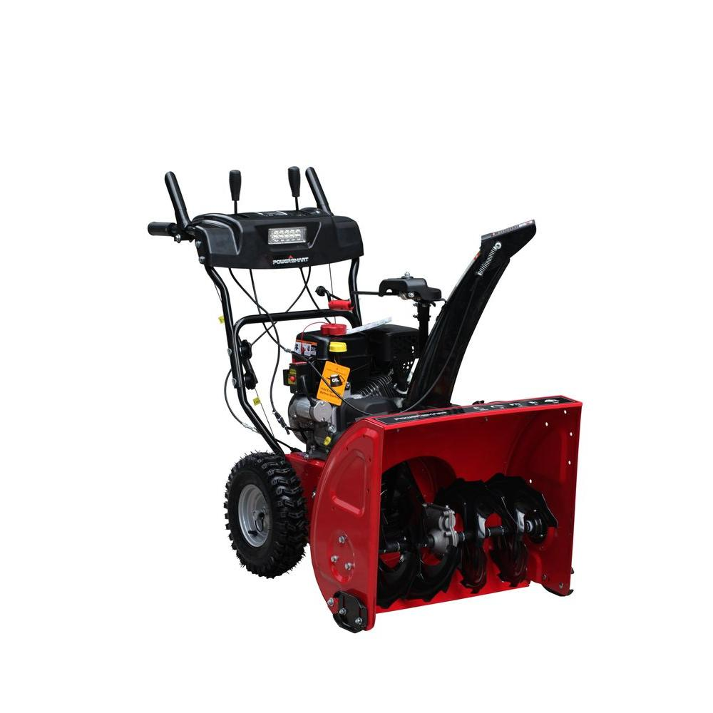 Powersmart 26 In 212cc Two Stage Electric Start Gas Snow Blower