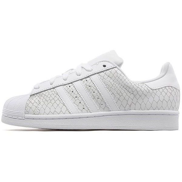 adidas Originals Superstar Snake Women's ($99) ❤ liked on Polyvore  featuring shoes, white