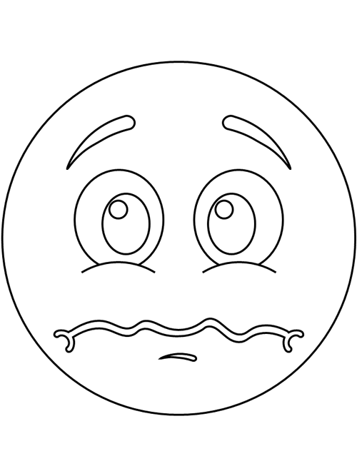 Scared Emotion Coloring Pages Printable Coloring Pages Emotions