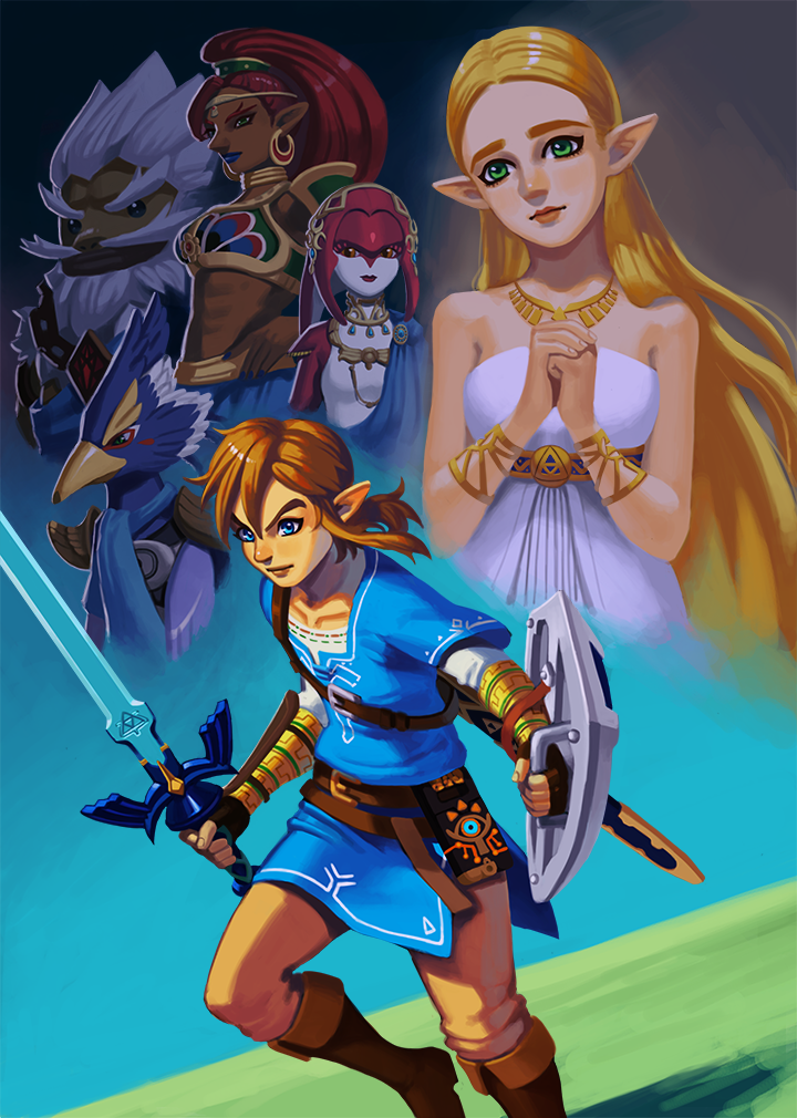 Finished Another Breath Of The Wild Fanart I Wanted To Draw