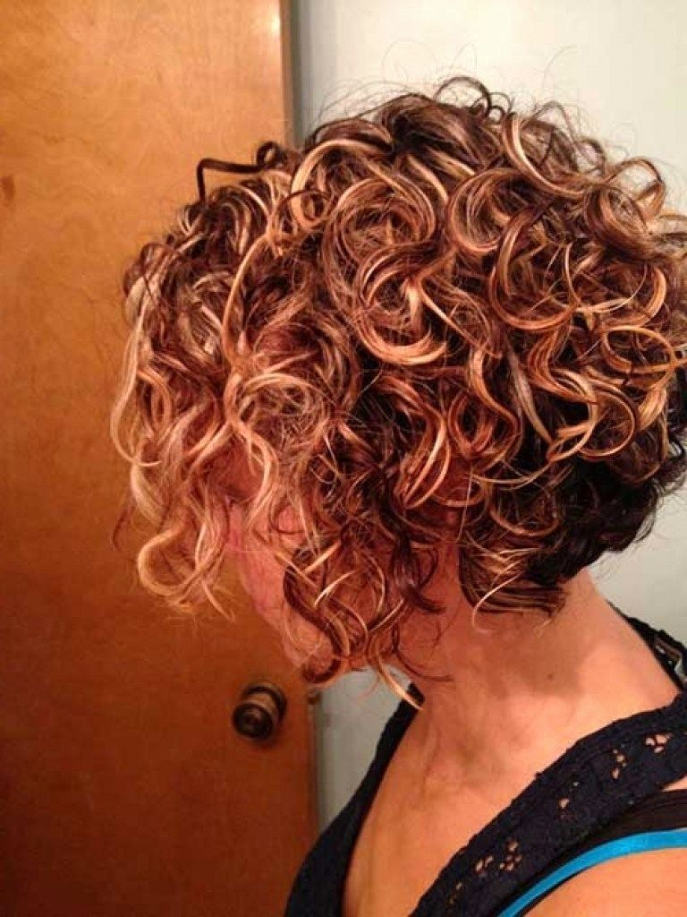 short layered permed hairstyles short curly bobs 2014 2015