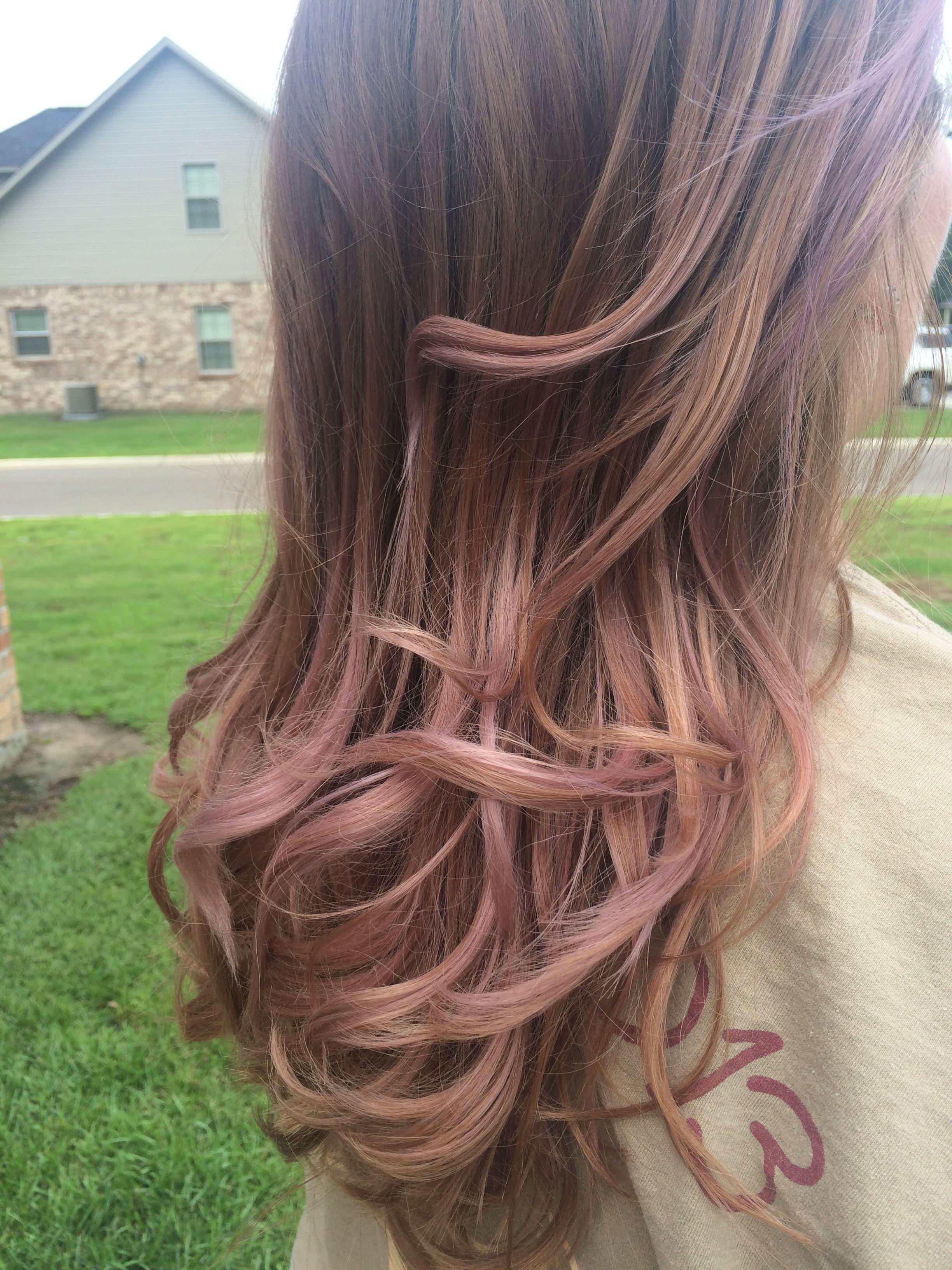 Rose Gold Balayage Light Brunette Hair Balayage Hair Rose Rose Gold Hair Brunette