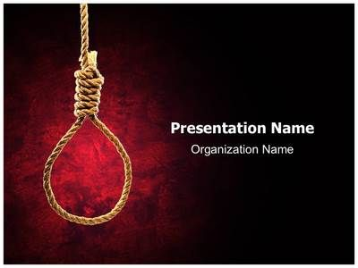 hangmans knot powerpoint template is one of the best powerpoint, Presentation templates