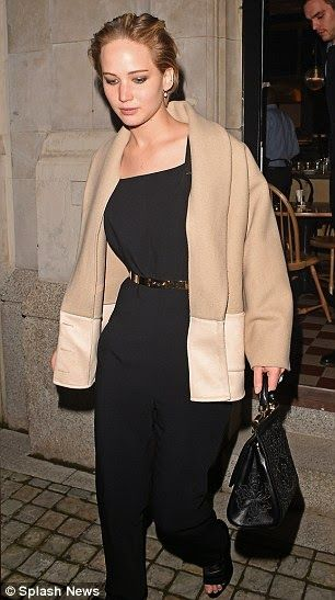Jennifer Lawrence, Tom Ford and her boyfriend Nicholas Hoult stepped out after dinner in London