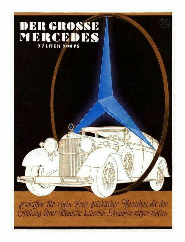 Pin by maik remmers on ads for cars built before 1940 for Mercedes benz poster