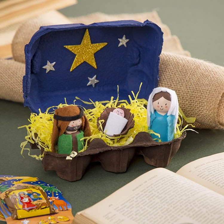 Nativity Egg-Box Scene   Free Craft Ideas   Baker
