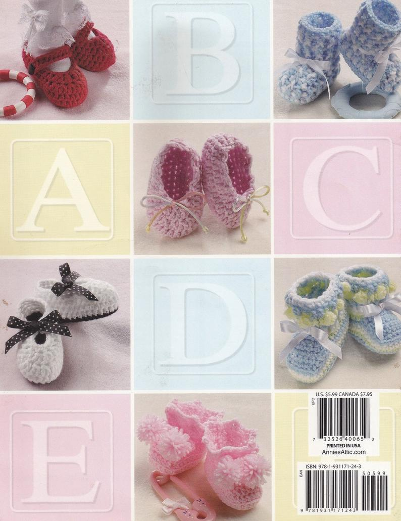 Crochet  Super Simple Baby Booties  Annie Potter Original   Patterns