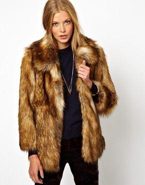 Brown Faux Fur Coat Photo Album - Reikian