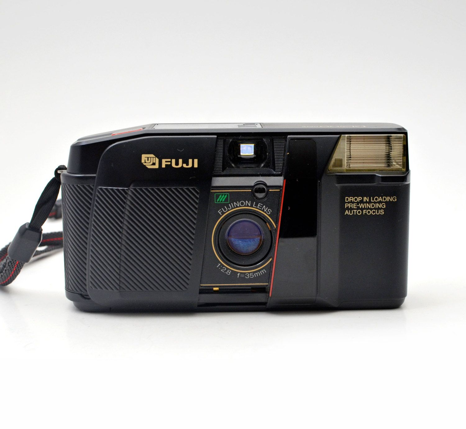 vintage fuji dl-300 date 35mm film automatic compact camera