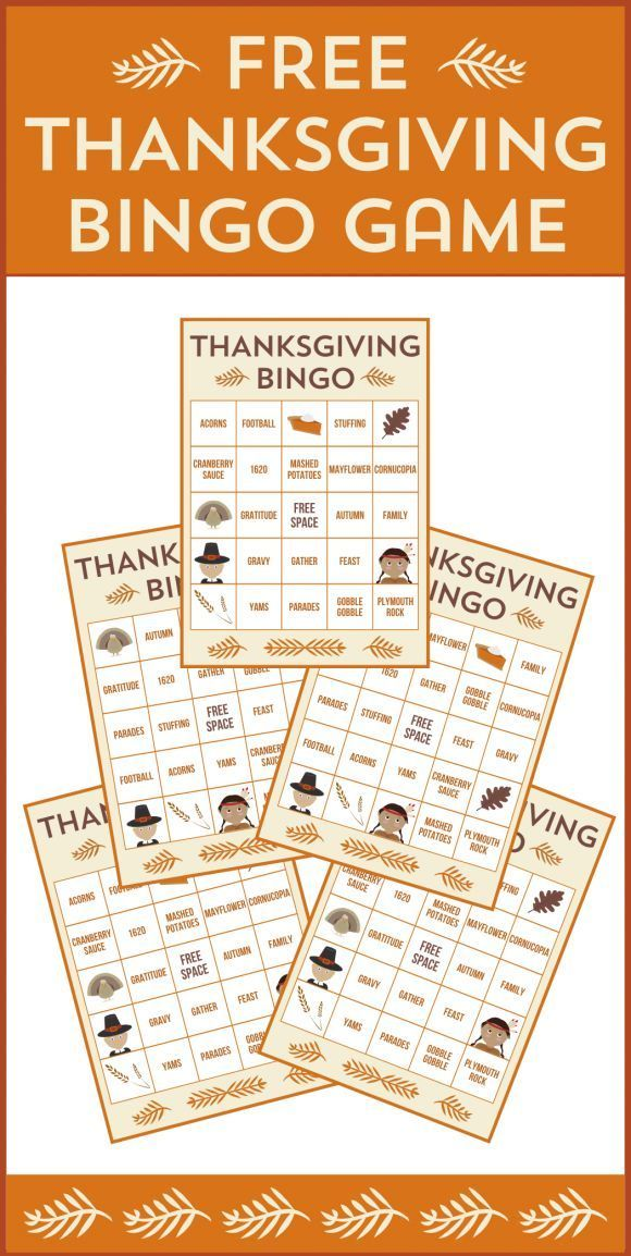 Free Printable Thanksgiving Bingo Cards School projects