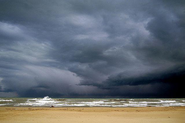Pescara il mare d'inverno Italy, Adriatic sea, Places