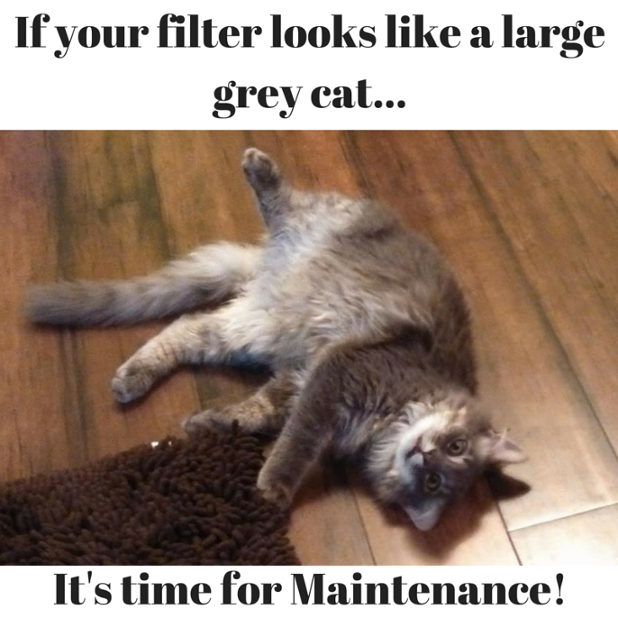 Over time, air filters loaded with more and more